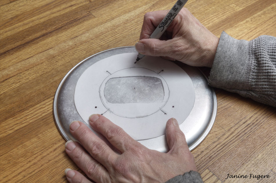 Marking-Drill-Holes-for-Mounting-Reflector-to-Dish