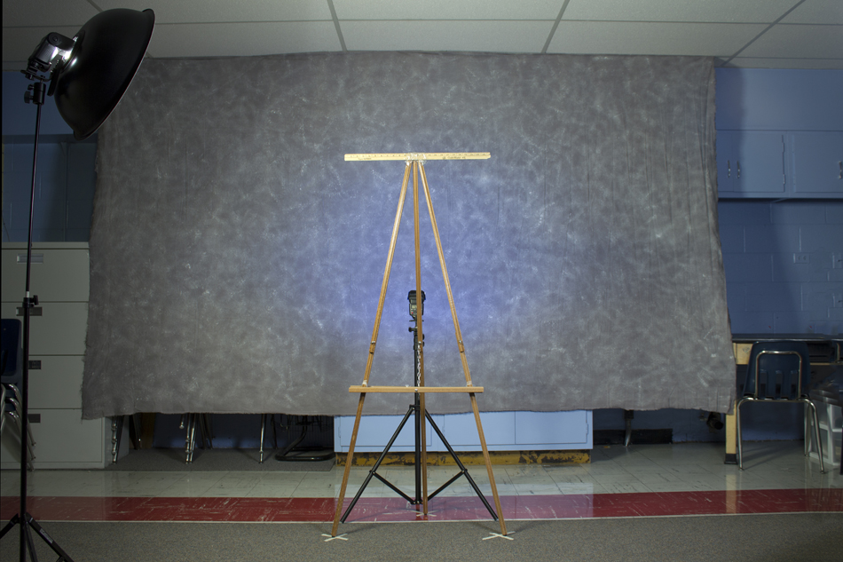 Art Documentation Easel Setup and Background