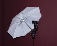 "Fill Light - Canon 430EXII Speedlight with 30"" Umbrella"