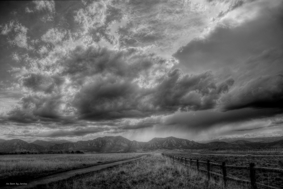 Fine Art Silver Efex Pro2 Filter: Spring Storm Clouds Colorado Style