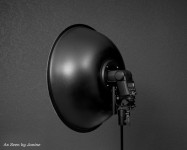 Key Light - Canon 430EXII Speedlight with Beauty Dish Rear View