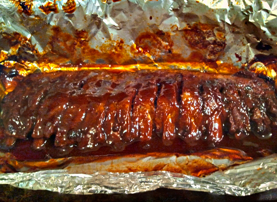 Janine's Sweet Baby Ray's Baby Back Ribs, Cooked & Ready to Eat!