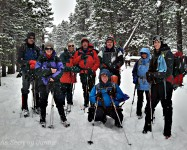 The Gang Snowshoeing up Niwot Ridge