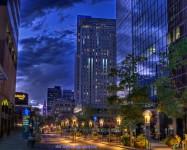 Denver's 16th Street Mall at Twilight