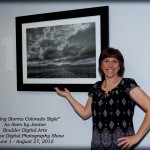 "Janine Fugere with ""Spring Storms Colorado Style"" at Boulder Digital Arts ""Creative Digital Photography"" Show"