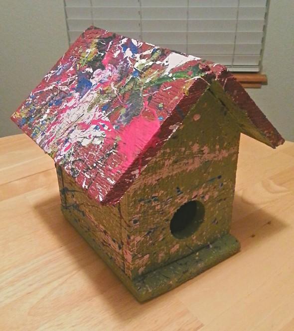 Jackson Pollock Birdhouse by Josh