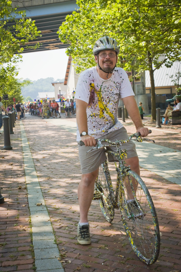 Kurt and his Jackson Pollock Bike
