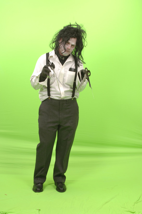 Kurt as Edward Scissorhands