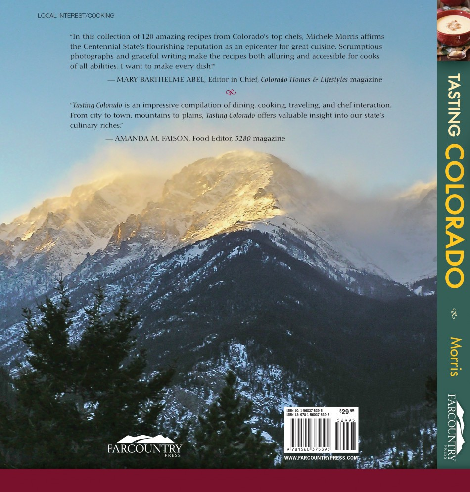 Tasting Colorado Back Cover & Title Spine