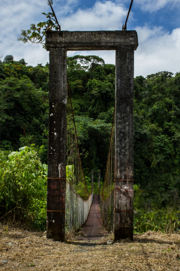 Rustic Bridge Between Boquete and Vulcan, Panama