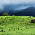 Storm Clouds Over Mountain Pasture on Road to Volcan