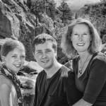 Karen, Henry & Anna - B&W Family Portrait