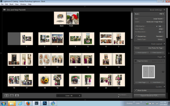 Create PDF Test Copy of Book Within Lightroom Book Module