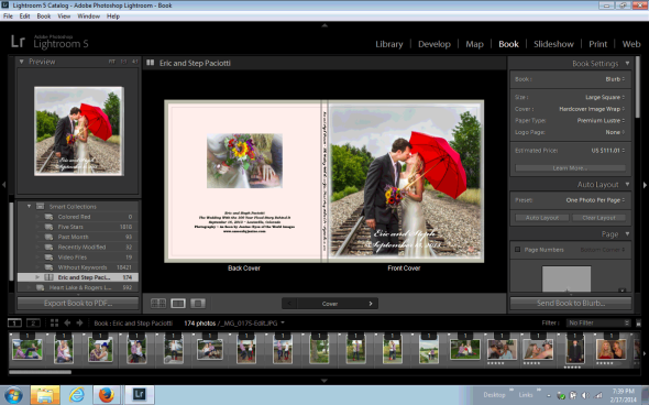 Eric and Steph Wedding Album in Blurb Book Module