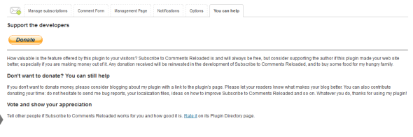 Support the Developers of Subscribe to Comments Reloaded Plugin