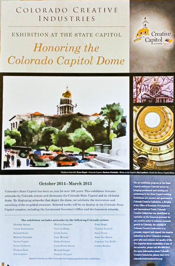 Honoring the Capitol Dome Exhibition Poster