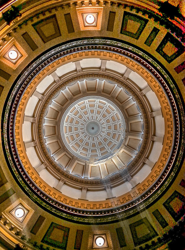 Capitol Dome Interior Looking up from Basement Rotunda