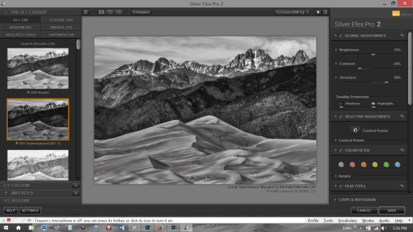 Customizing my B&W Conversion in Silver Effects Pro 2