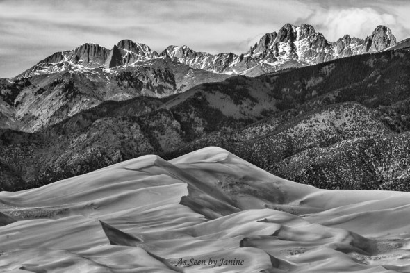 Great Sand Dunes HDR Merge to 32 Bit Topaz Brilliant Warm B&W