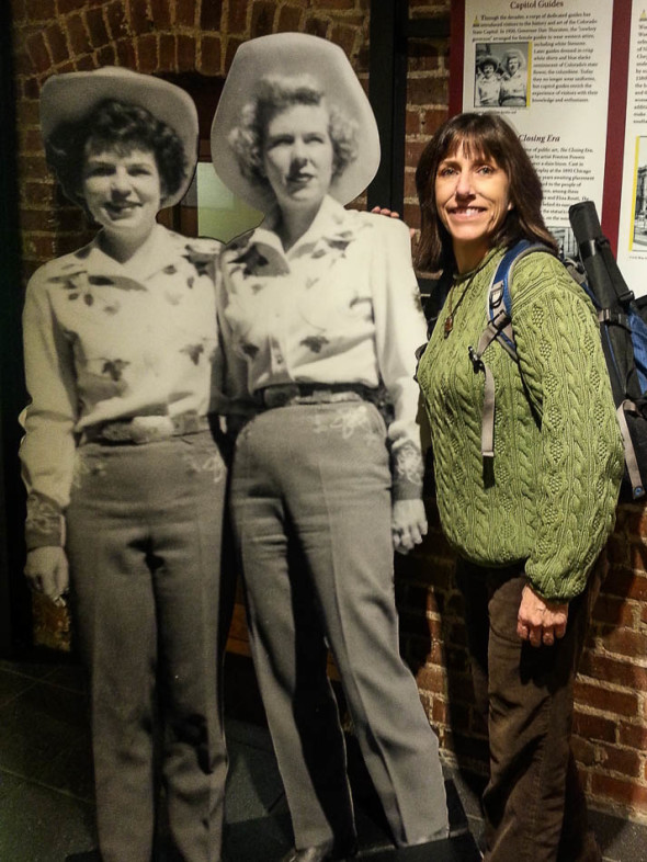 Janine with Colorado Cowgirl Capitol Guides from the late 1950's