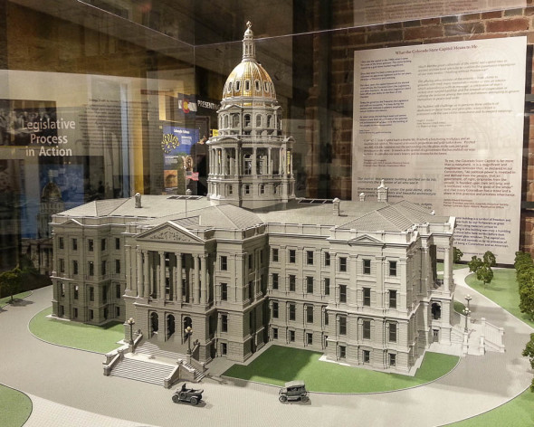 Model of the Colorado Capitol in Mr. Brown's Attic Artifacts