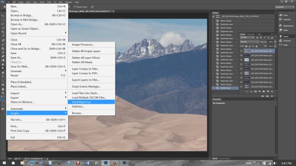 Stack Align Crop Script in Photoshop CS6